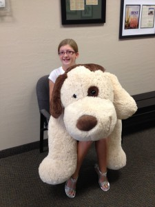"LAUREN H. WINS THE ""BIG"" PRIZE & TAKES HOME PRESTO THE PUPPY"