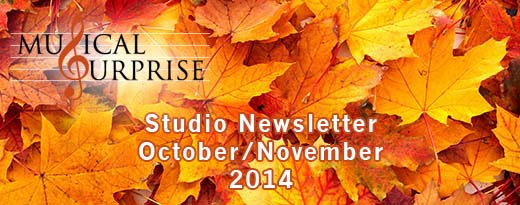 Studio Newsletter Oct/Nov 2014