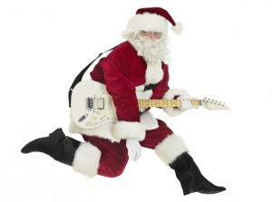 Holiday Hoopla- Guitar Santa